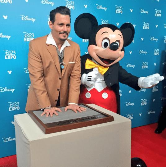 Johnny Depp Disney Legend per Jack Sparrow