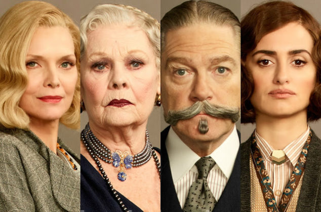Michelle Pfeiffer, Judi Dench, Kenneth Branagh e Penélope Cruz in Assassinio sull'Orient Express