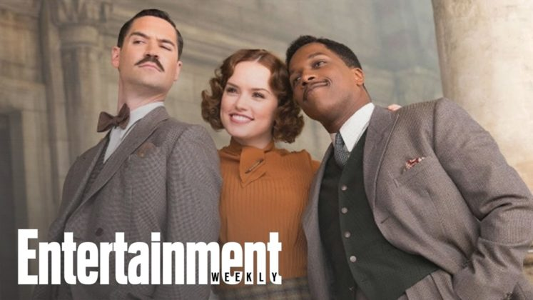 Tom Bateman, Daisy Ridley e Leslie Odom Jr. in Assassinio sull'Orient Express