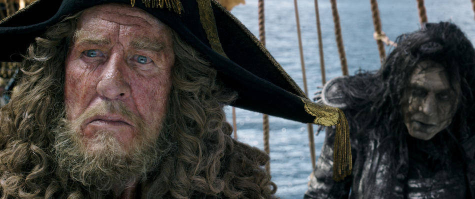 Geoffrey Rush in Pirati dei Caraibi – La vendetta di Salazar