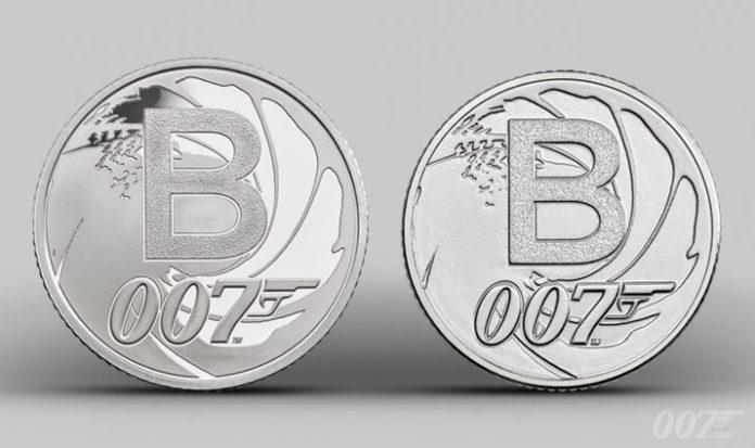 La moneta da 10 pence che celebra James Bond