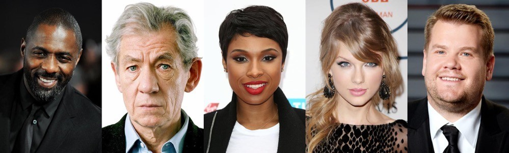 Il cast di Cats: Idris Elba, Ian McKellen, Jennifer Hudson, Taylor Swift, James Corden