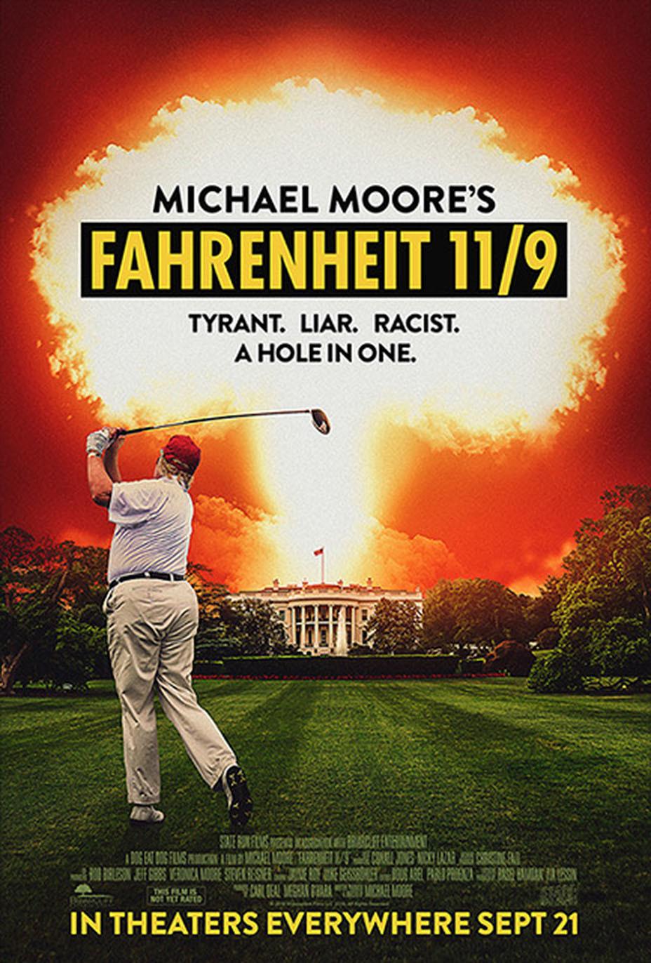 Fahrenheit 11/9: il poster del documentario di Michael Moore