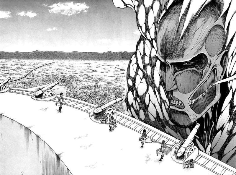 Una scena da Attack on Titan
