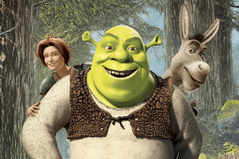 Shrek, la Principessa Fiona e Ciuchino