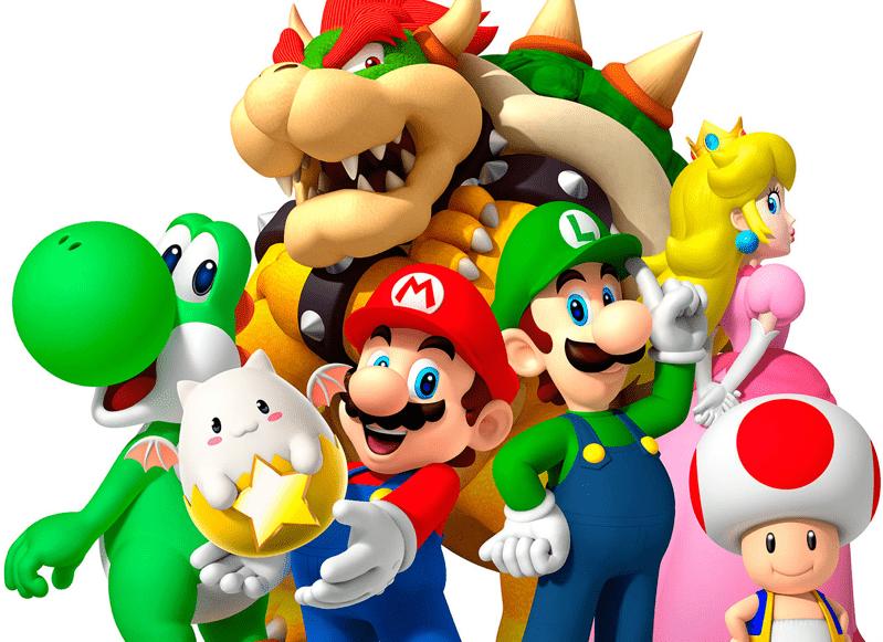I principali protagonisti della serie Super Mario Bros