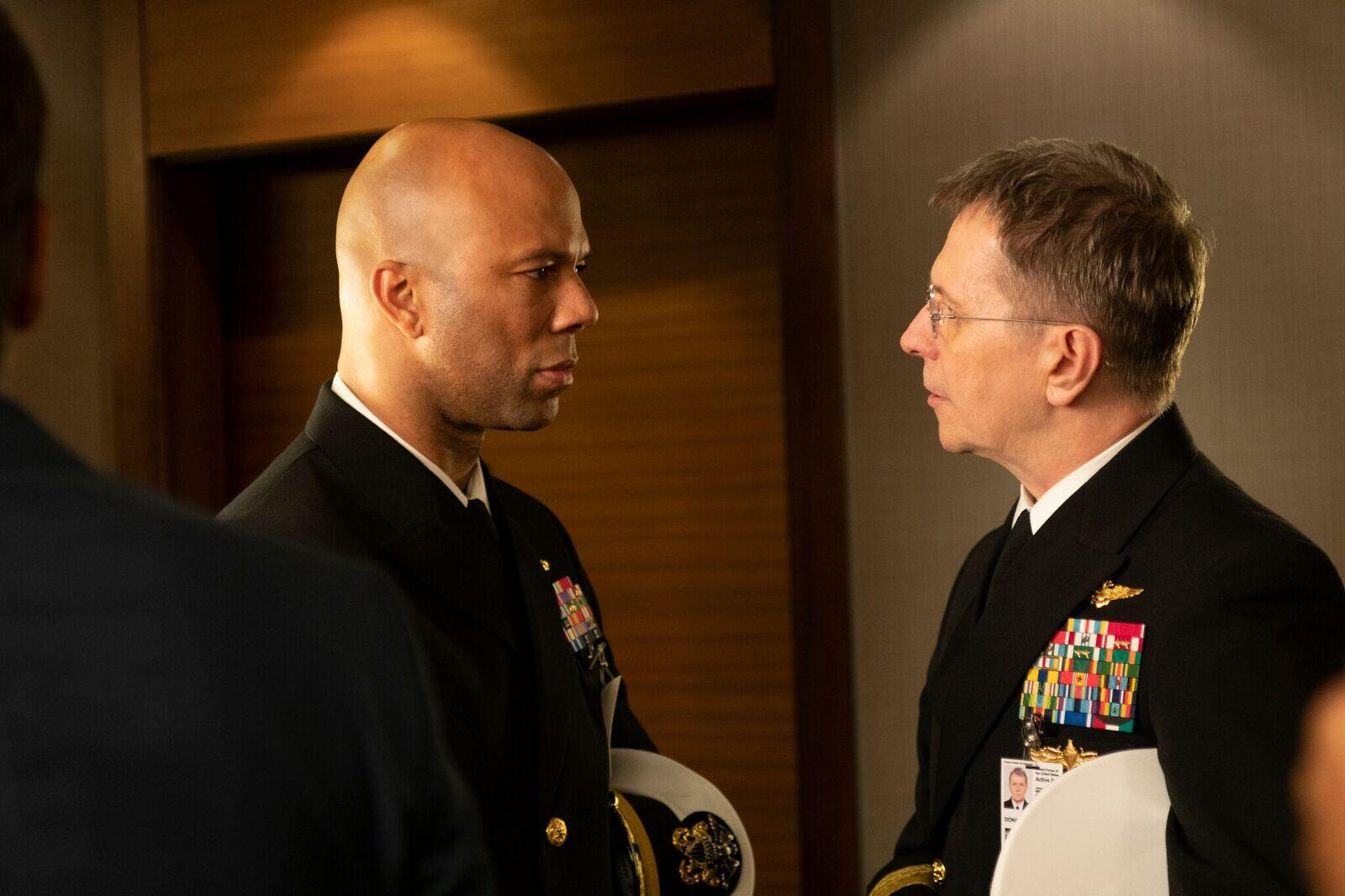 Gary Oldman e Common in Hunter Killer
