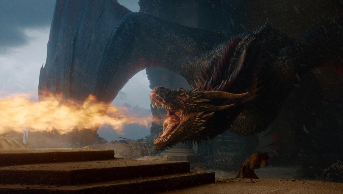 Drogon distrugge il Trono di Spade
