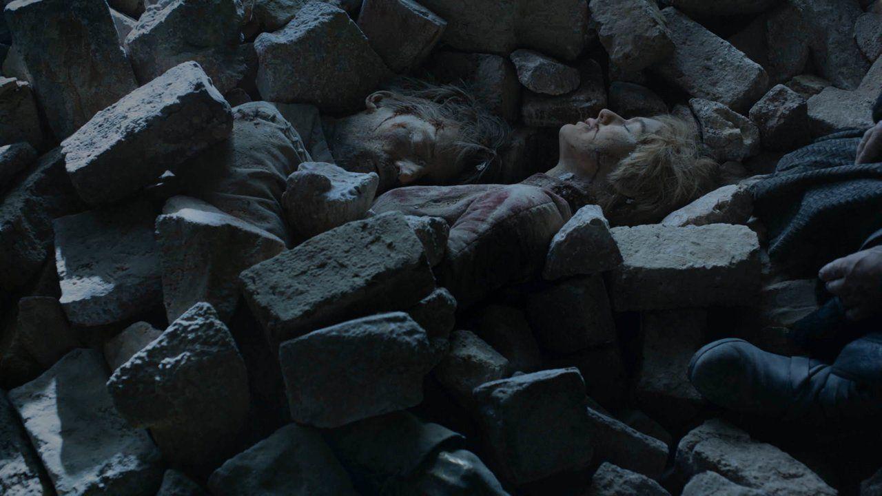 Jaime e Cersei nell'abbraccio della morte