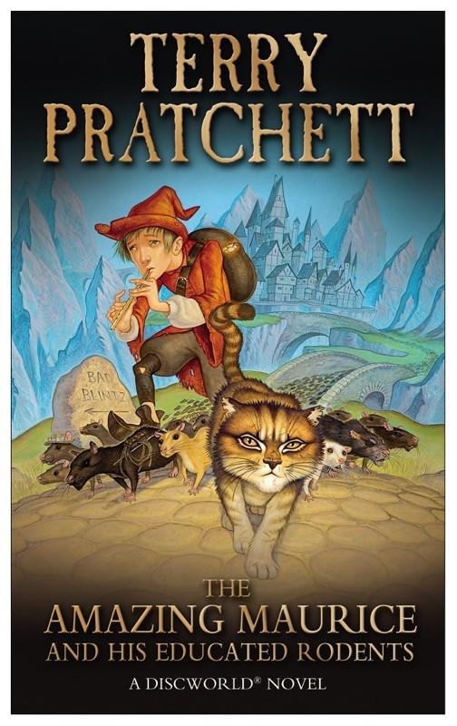 La copertina di una delle edizioni di The Amazing Maurice and his educated rodents