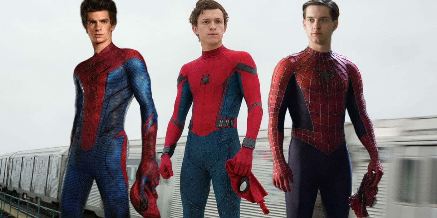 Andrew Garfield, Tom Holland e Tobey Maguire come Spider-Man