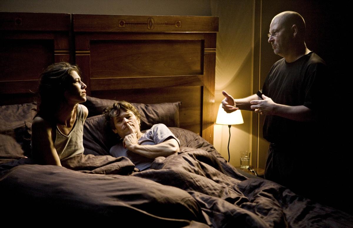 Lars von Trier con Willem Dafoe e Charlotte Gainsbourg