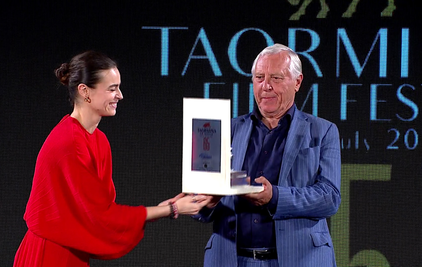 Taormina Film Fest: Kasia Smutniak e Peter Greenaway