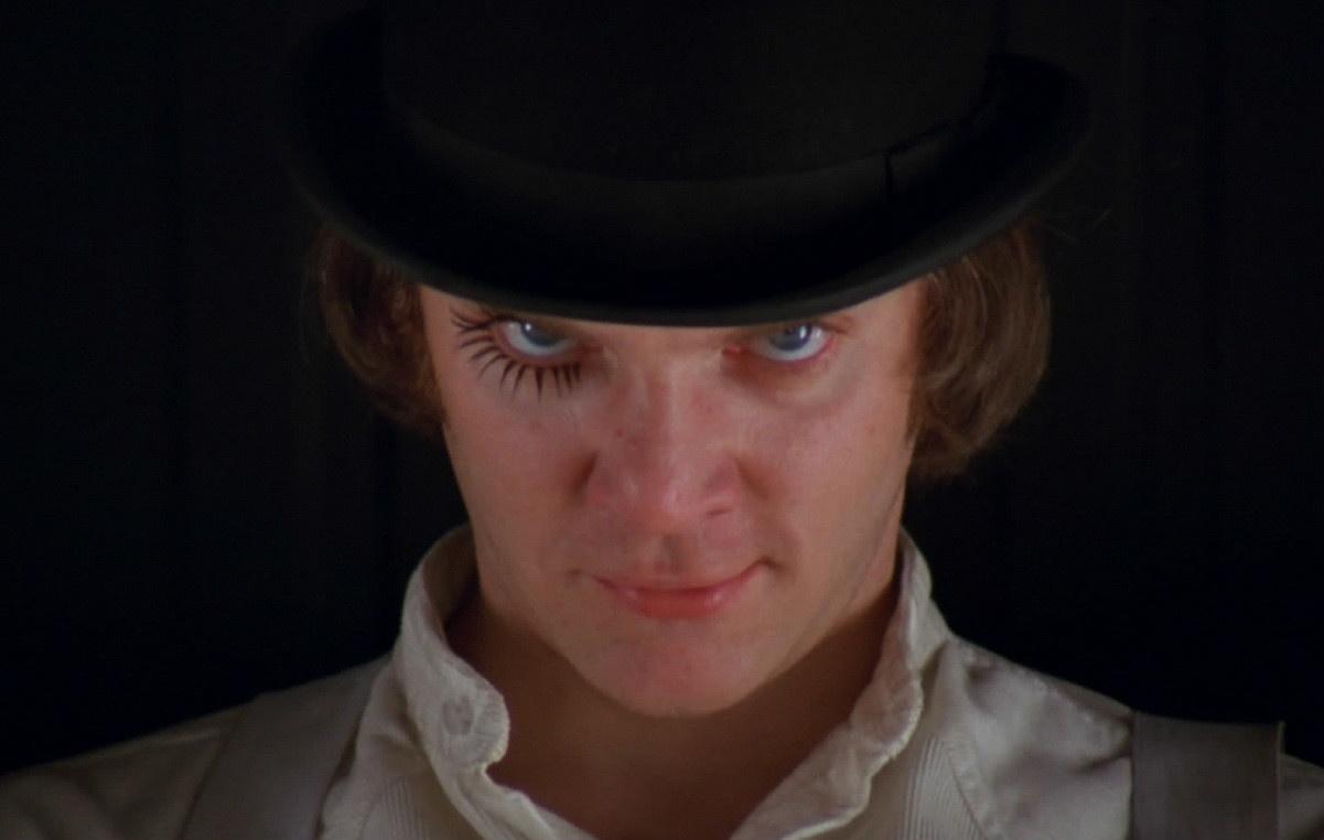 Malcolm McDowell in Arancia Meccanica (1971)