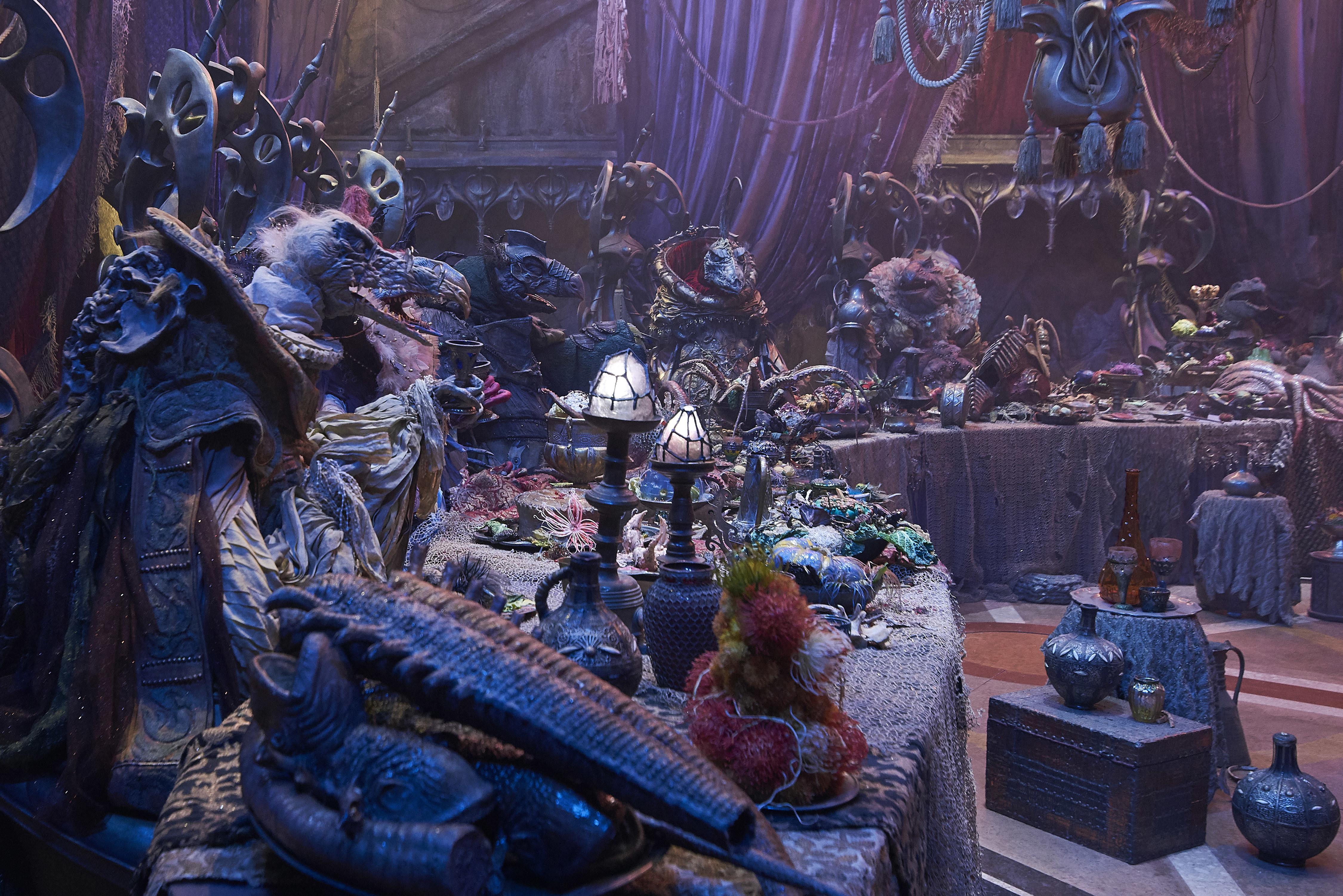 I terribili Skeksis in Dark Crystal: La resistenza