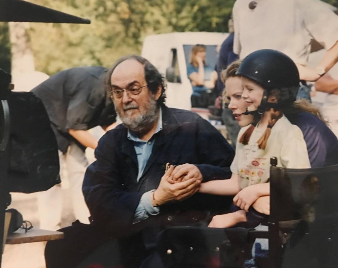 Stanley Kubrick e Nicole Kidman sul set