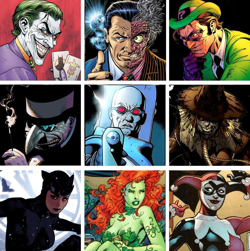 I supercriminali di Gotham nemici di Batman