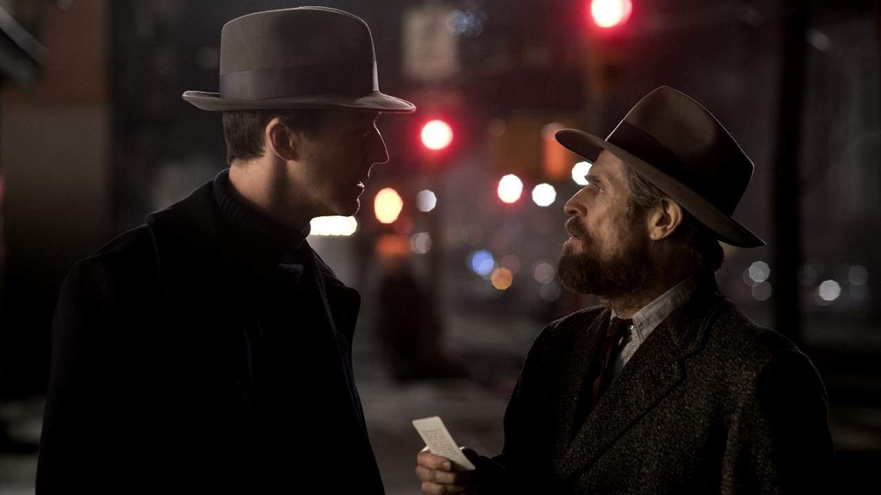 Edward Norton e Willem Dafoe in Motherless Brooklyn