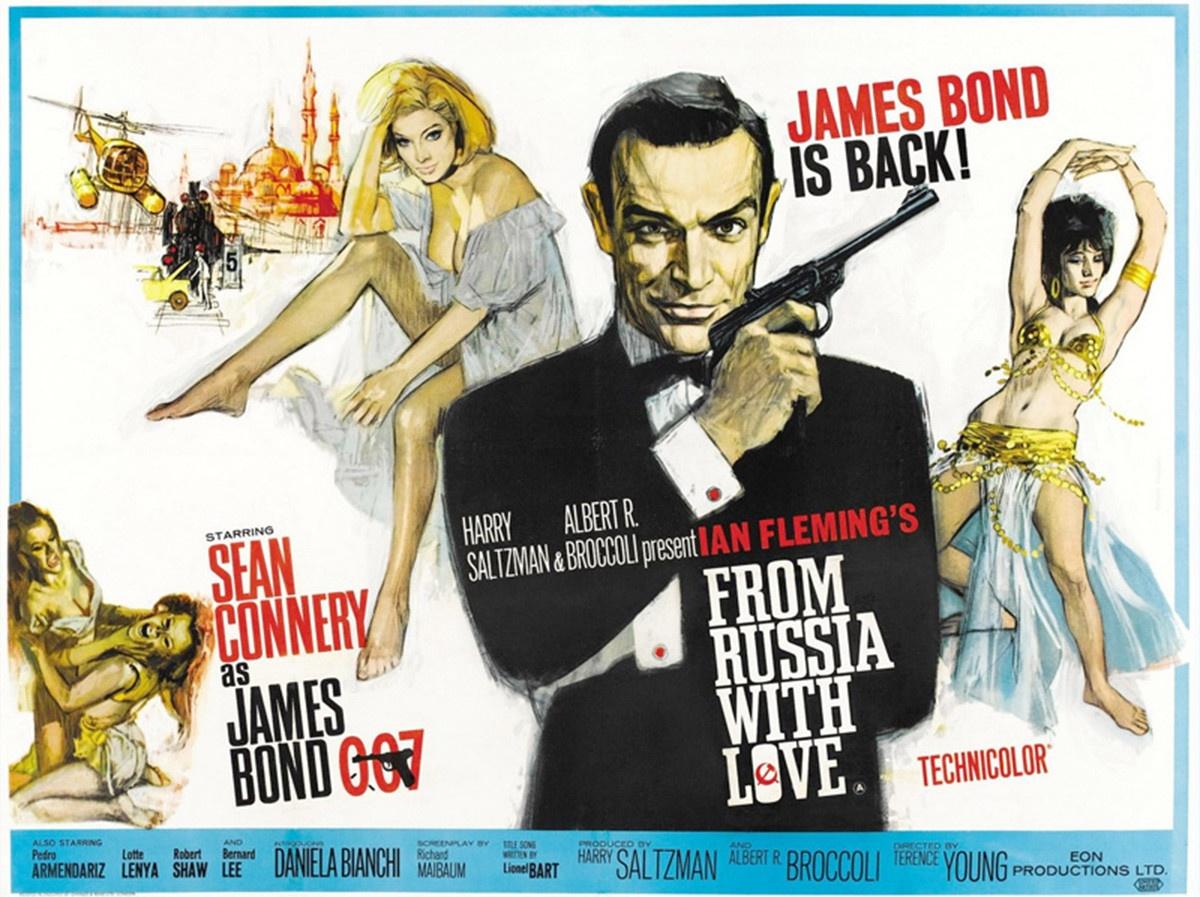 La locandina originale di A 007, dalla Russia con amore