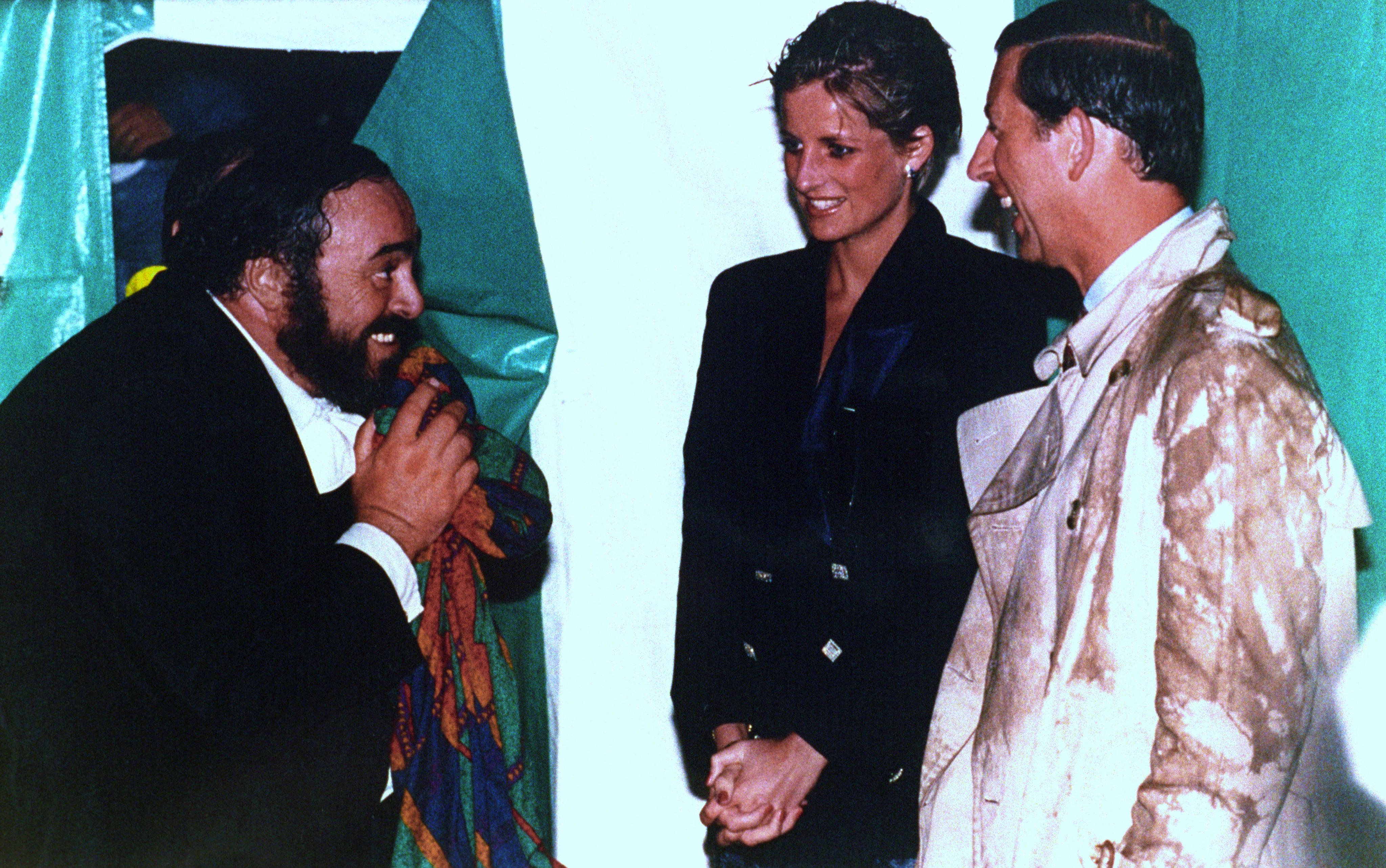 Luciano Pavarotti, Lady Diana e il Principe Carlo