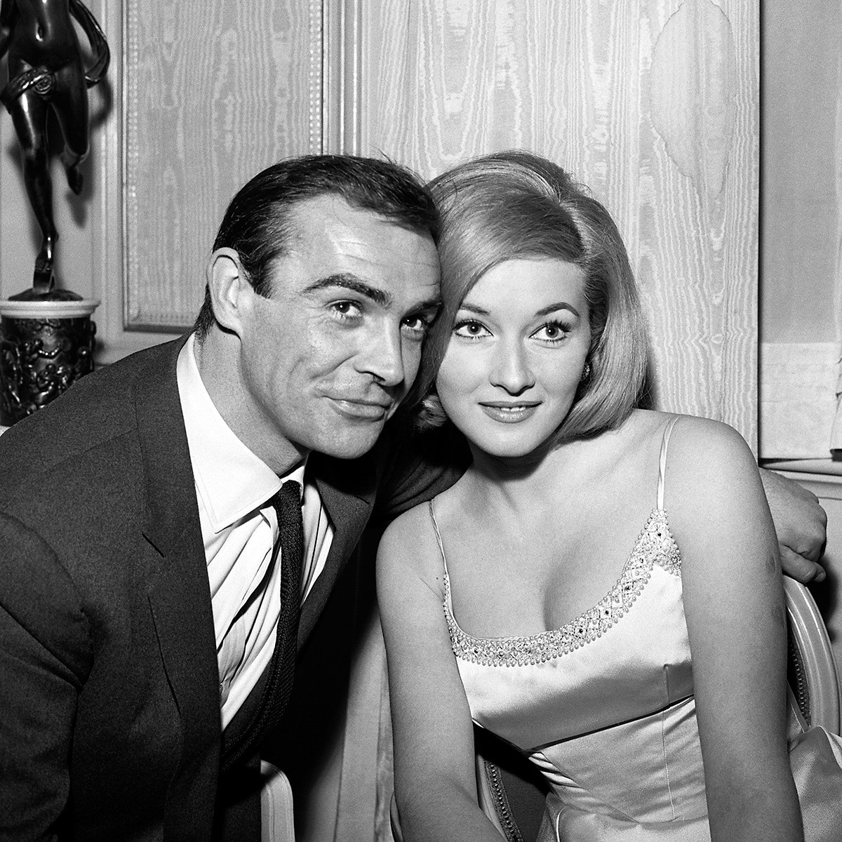 Sean Connery e Daniela Bianchi sul set di From Russia With Love