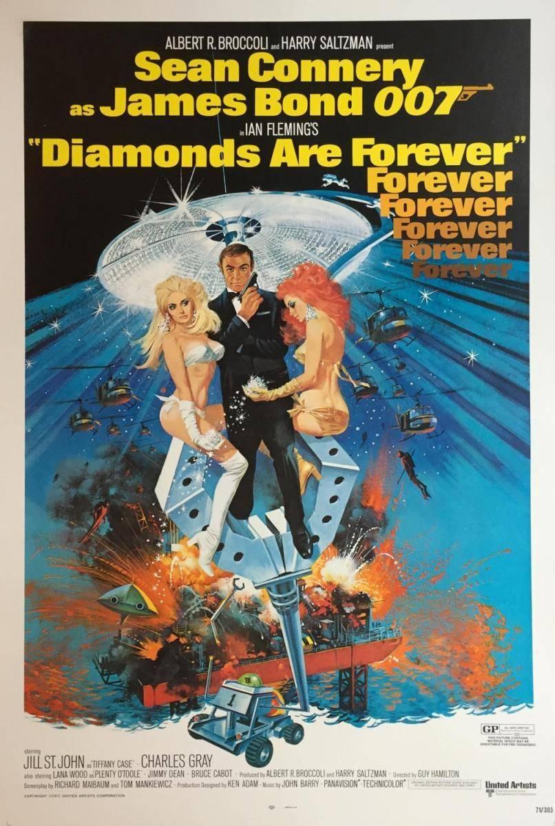 Il poster di Agente 007 - Una cascata di diamanti