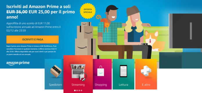 Black Friday Amazon Prime offerta 30% di sconto