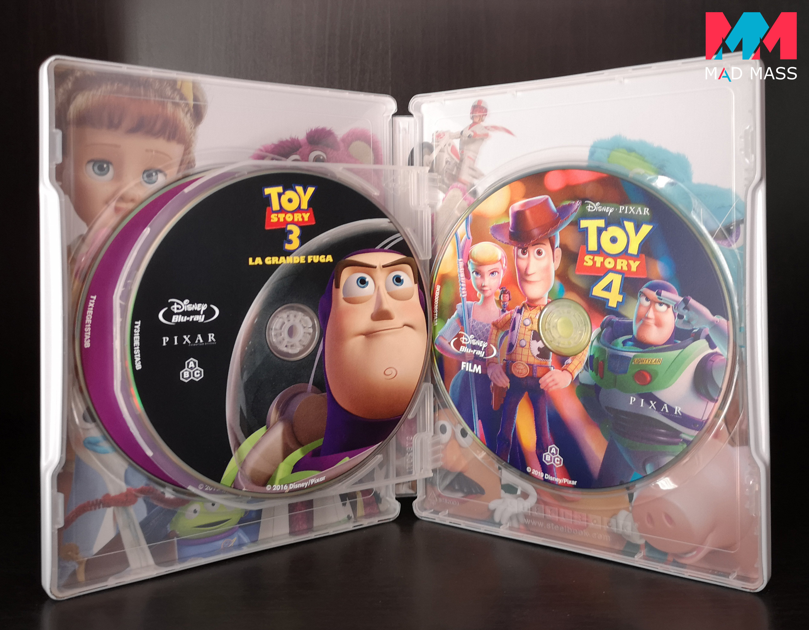 Toy Story collezione completa in steelbook Blu-ray
