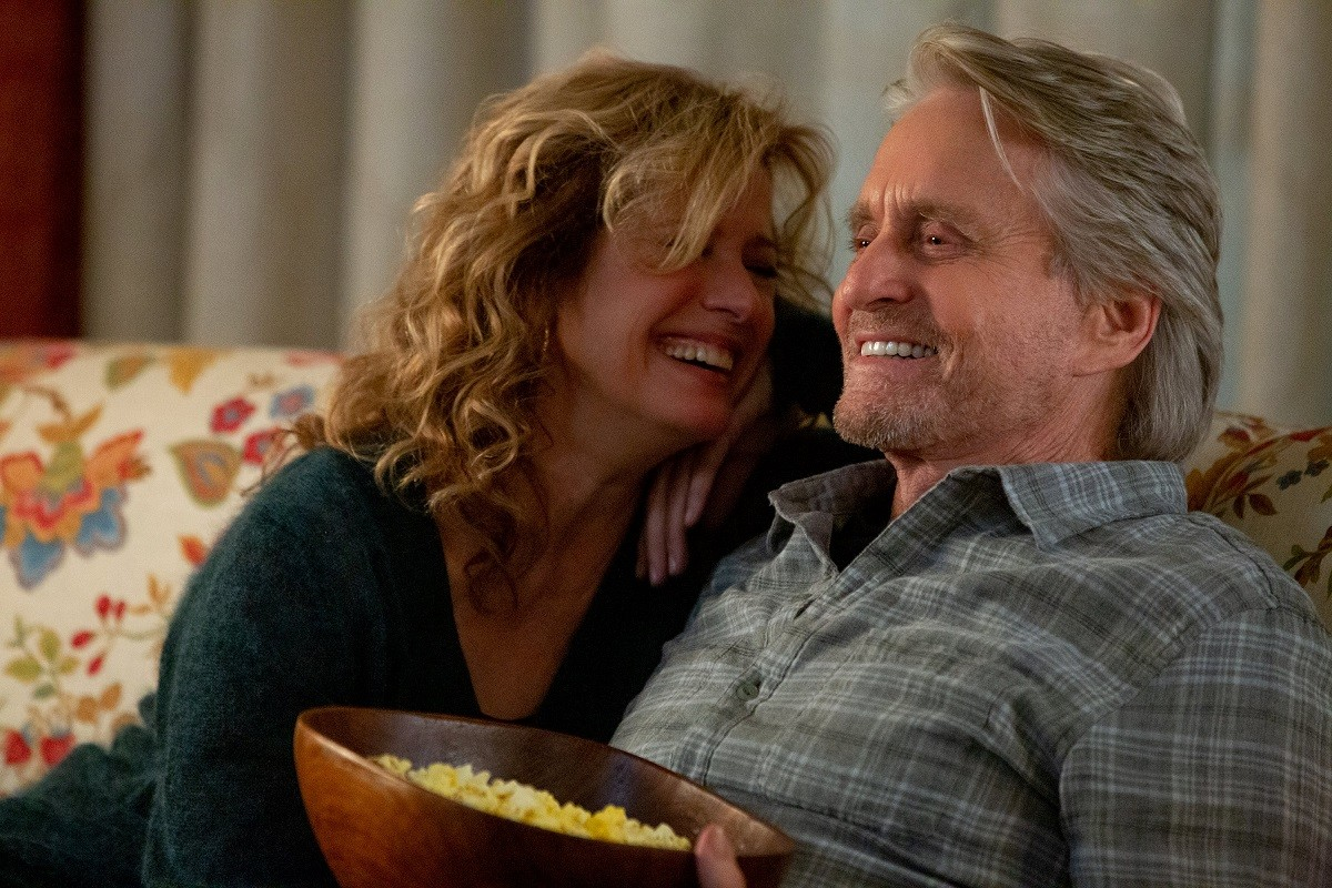 Nancy Travis e Michael Douglas