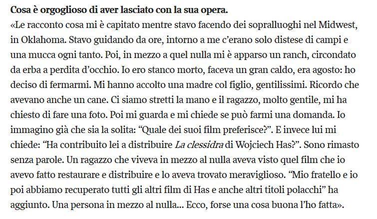 Il senso del cinema per Martin Scorsese