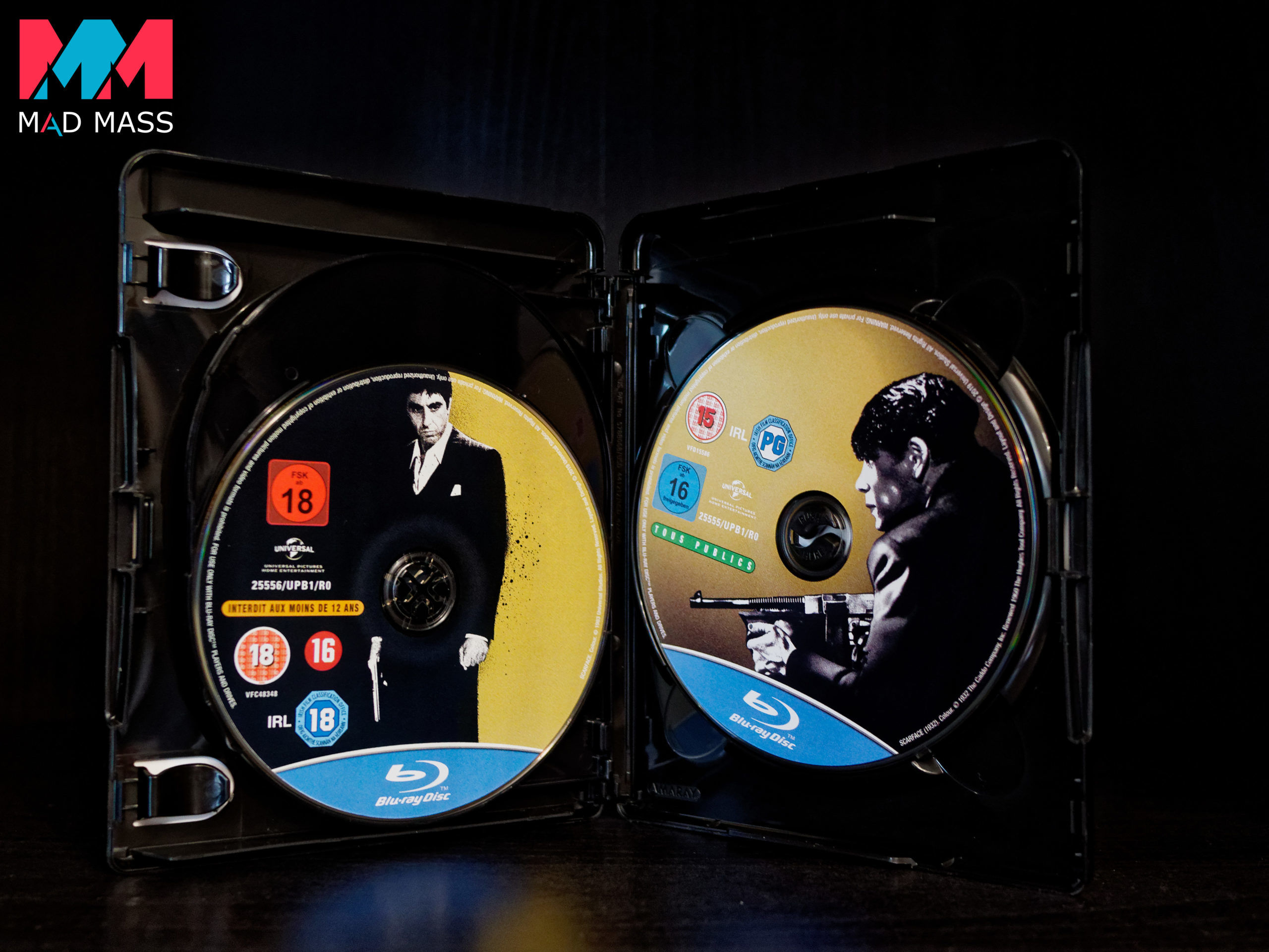 Scarface 1983 di Al Pacino e 1932 di Paul Muni in Blu-ray