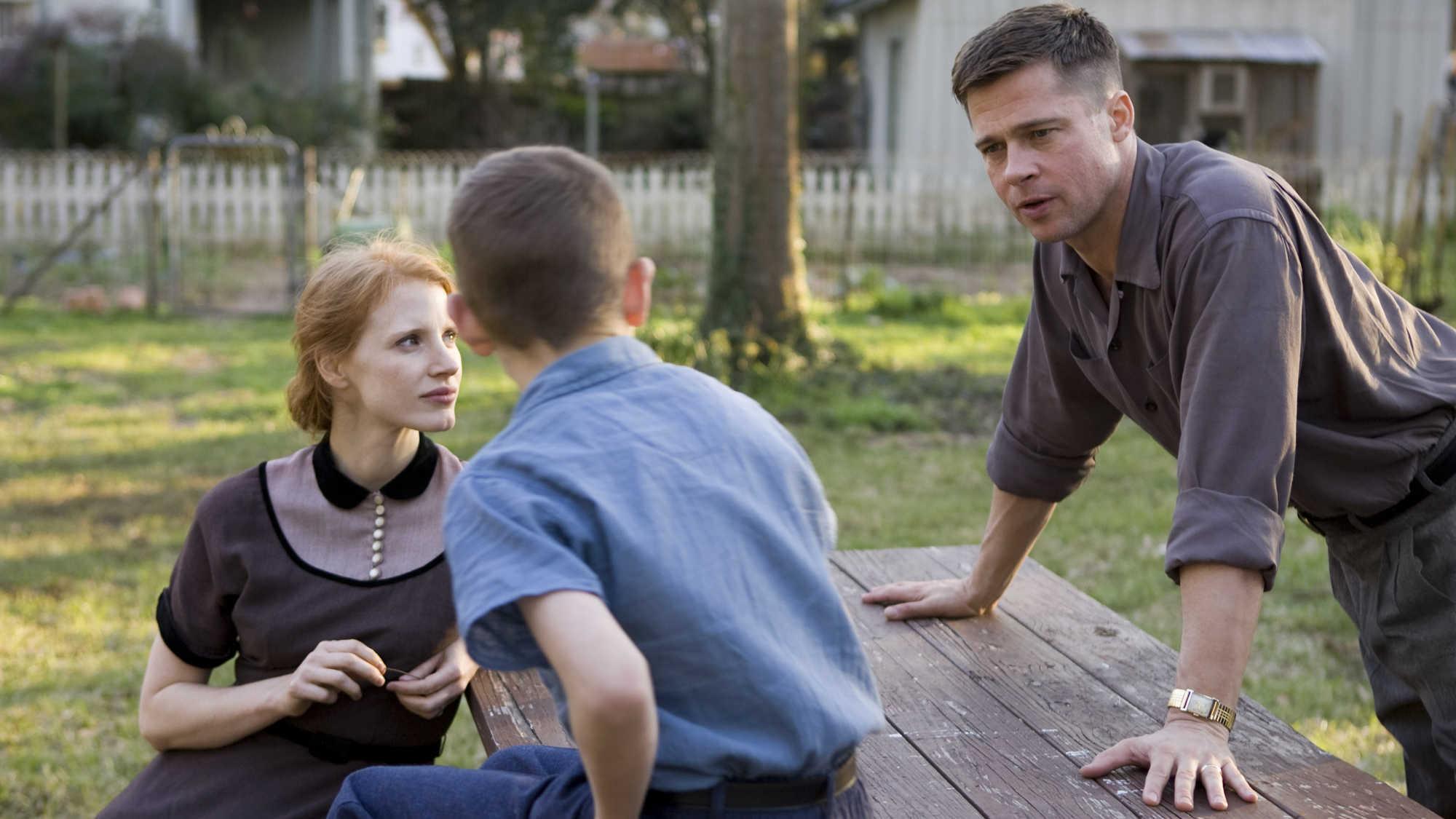 Brad Pitt, Jessica Chastain e Laramie Eppler