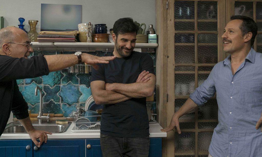 Ferzan Özpetek con Edoardo Leo e Stefano Accorsi