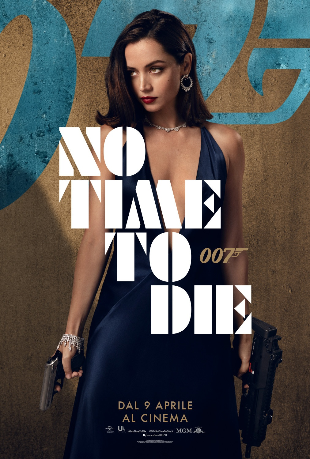 Ana De Armas: il poster in No Time to Die