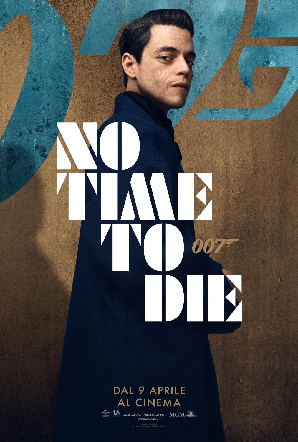 Rami Malek è il villain Safin in No Time to Die: Il Poster