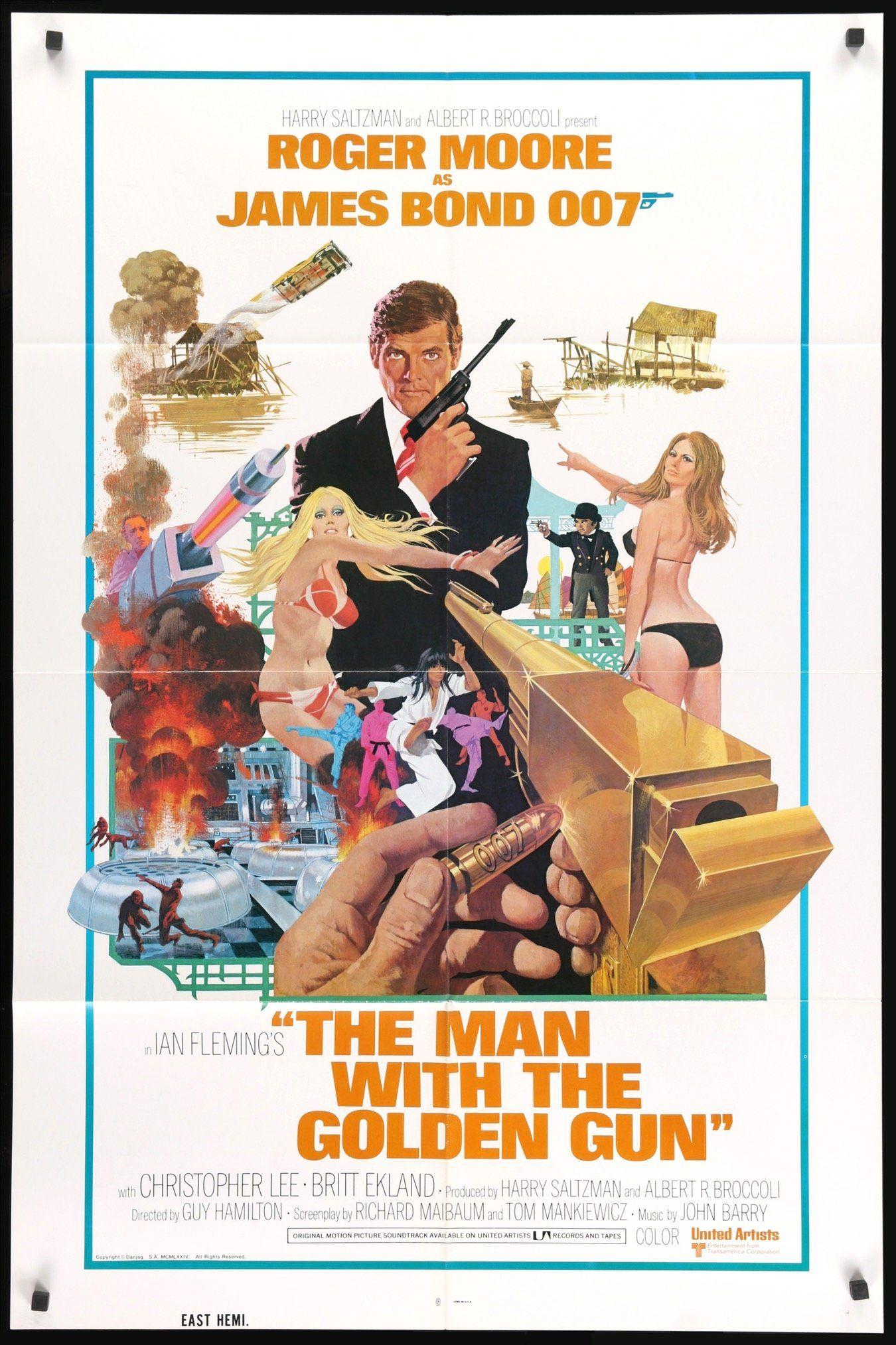 La locandina originale de L'uomo dalla pistola d'oro