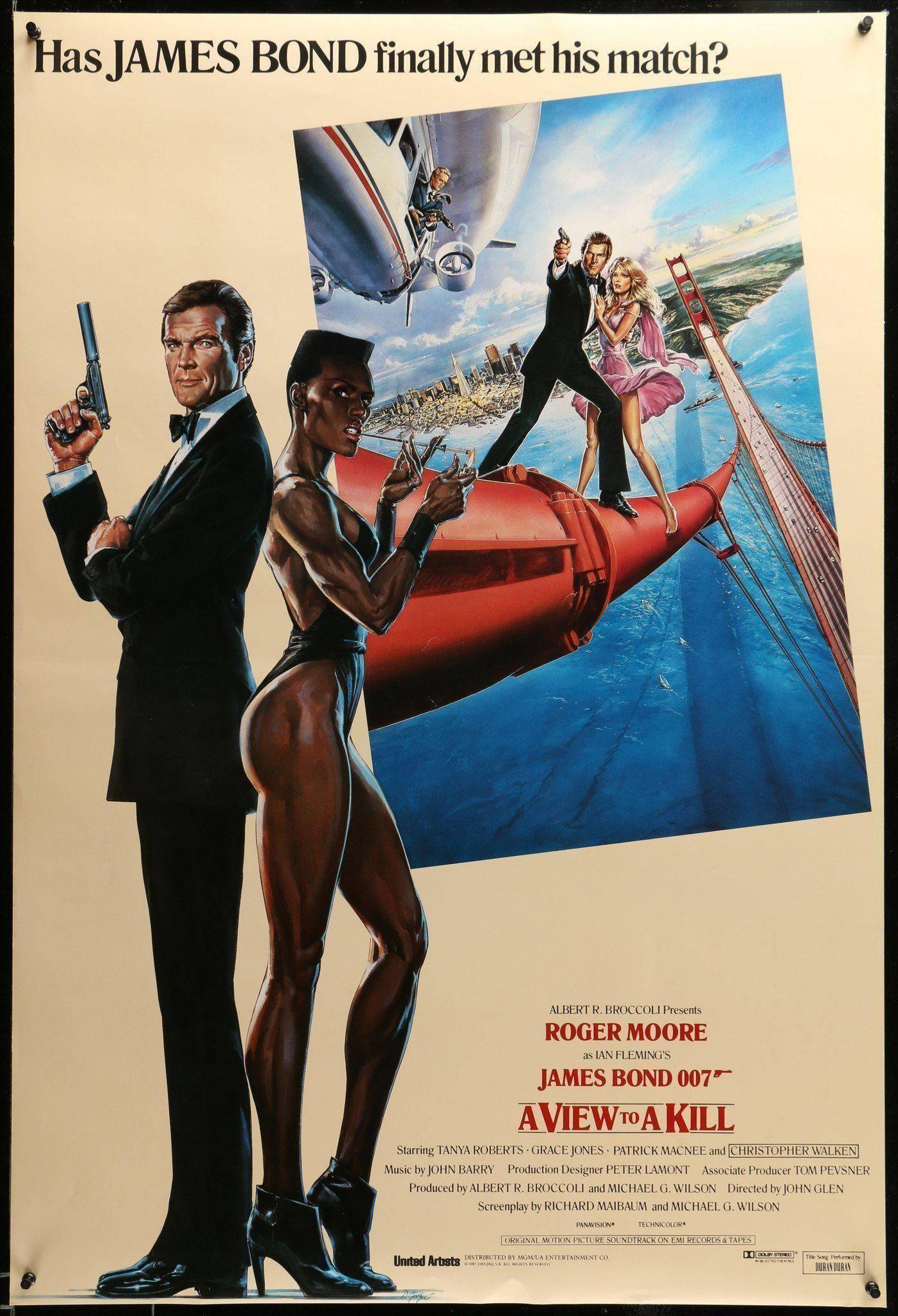 Il poster originale di 007 - Bersaglio Mobile