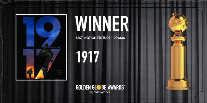 Golden Globe 2020: 1917 vince come Miglior Film Drammatico