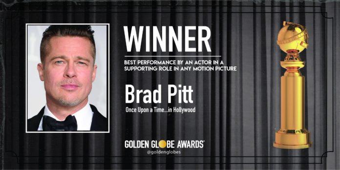 Golden Globe 2020: Brad Pitt Miglior Attore Non Protagonista