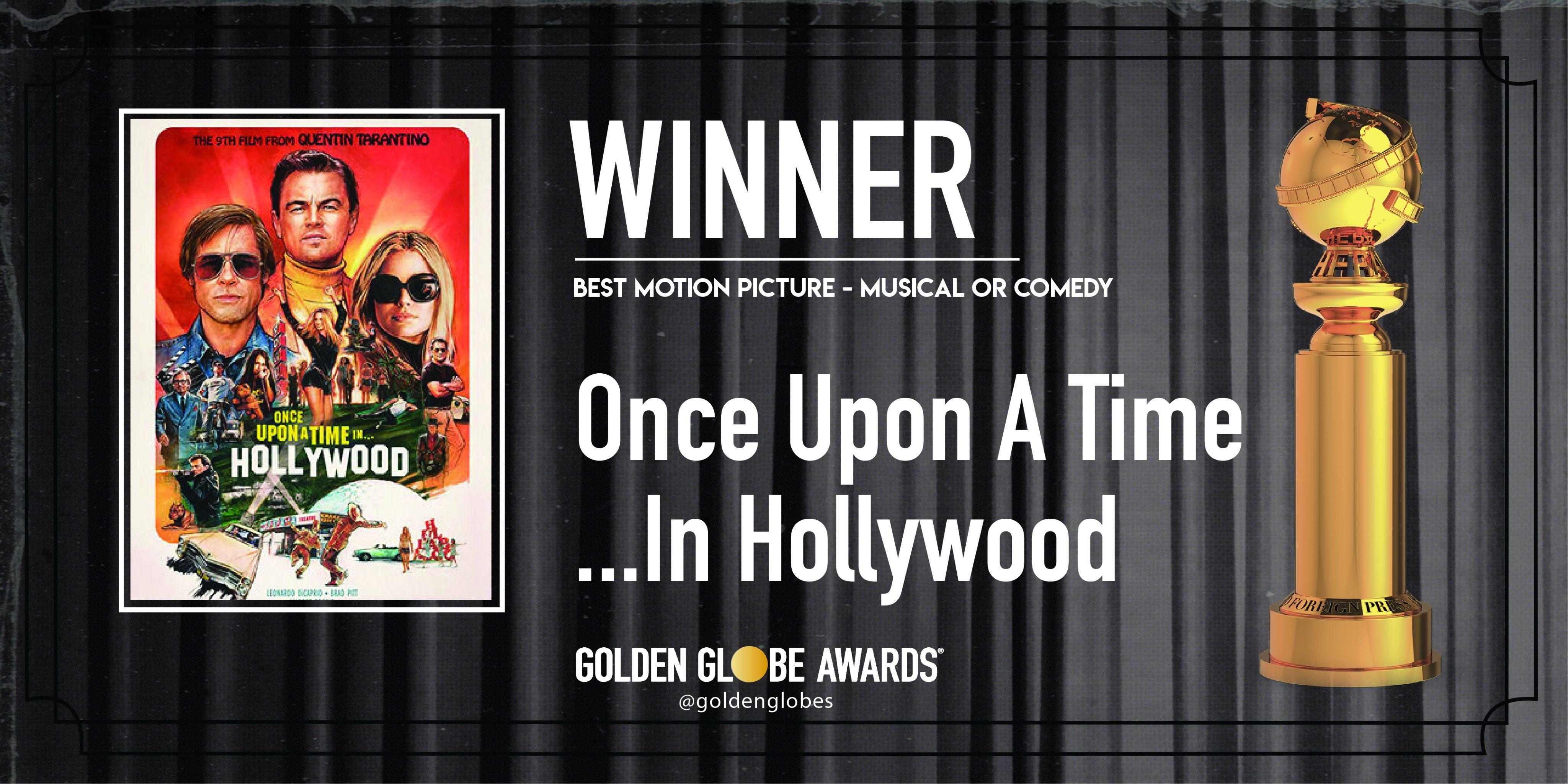 Golden Globe 2020: C'era una volta a... Hollywood Miglior Commedia