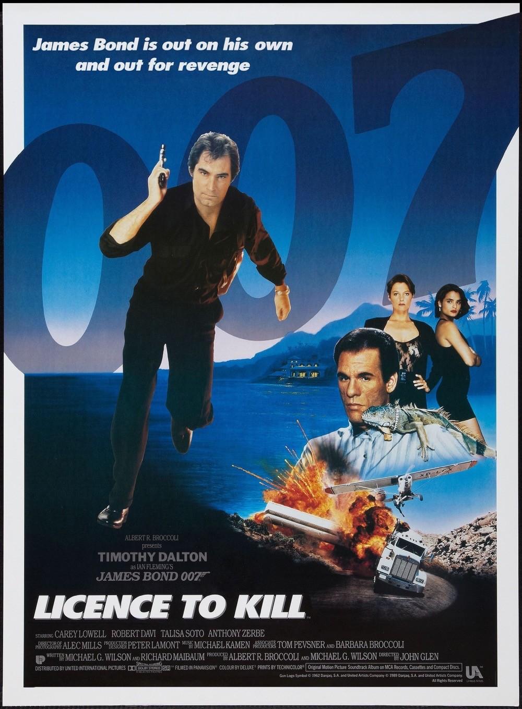 La locandina di Vendetta Privata - non il momento migliore per i poster di 007