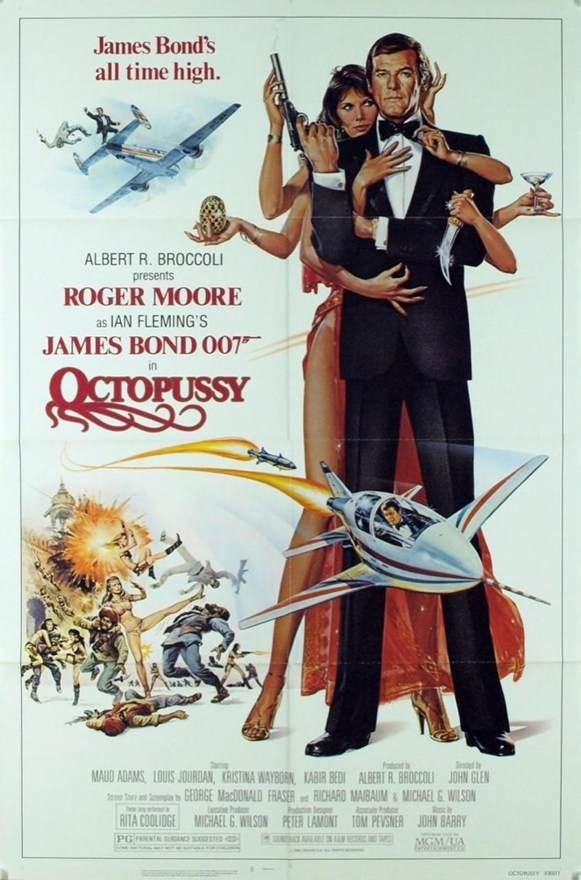 Uno dei poster originali di Octopussy - Operazione Piovra