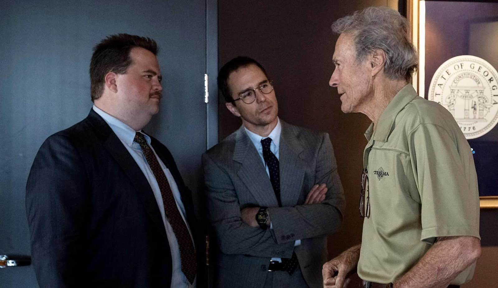 Paul Walter Hauser, Sam Rockwell e Clint Eastwood