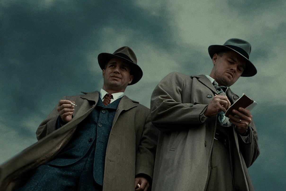 Mark Ruffalo e Leonardo DiCaprio in Shutter Island