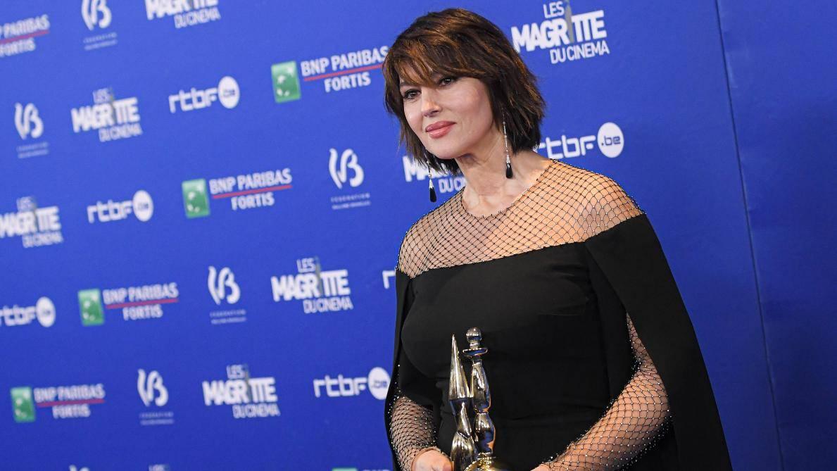 Monica Bellucci con il Magritte d'Honneur