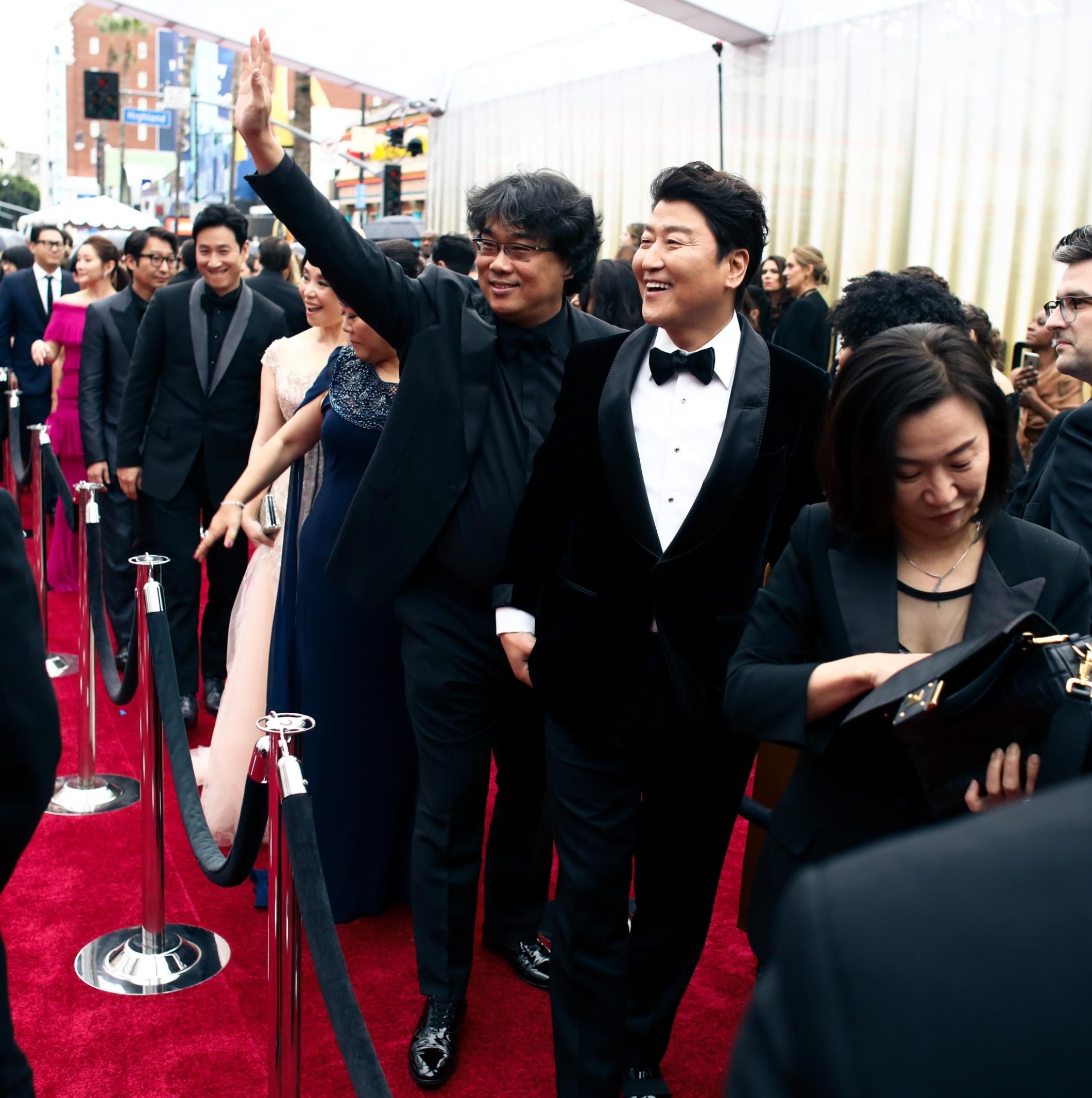 Il cast di Parasite agli Oscar 2020