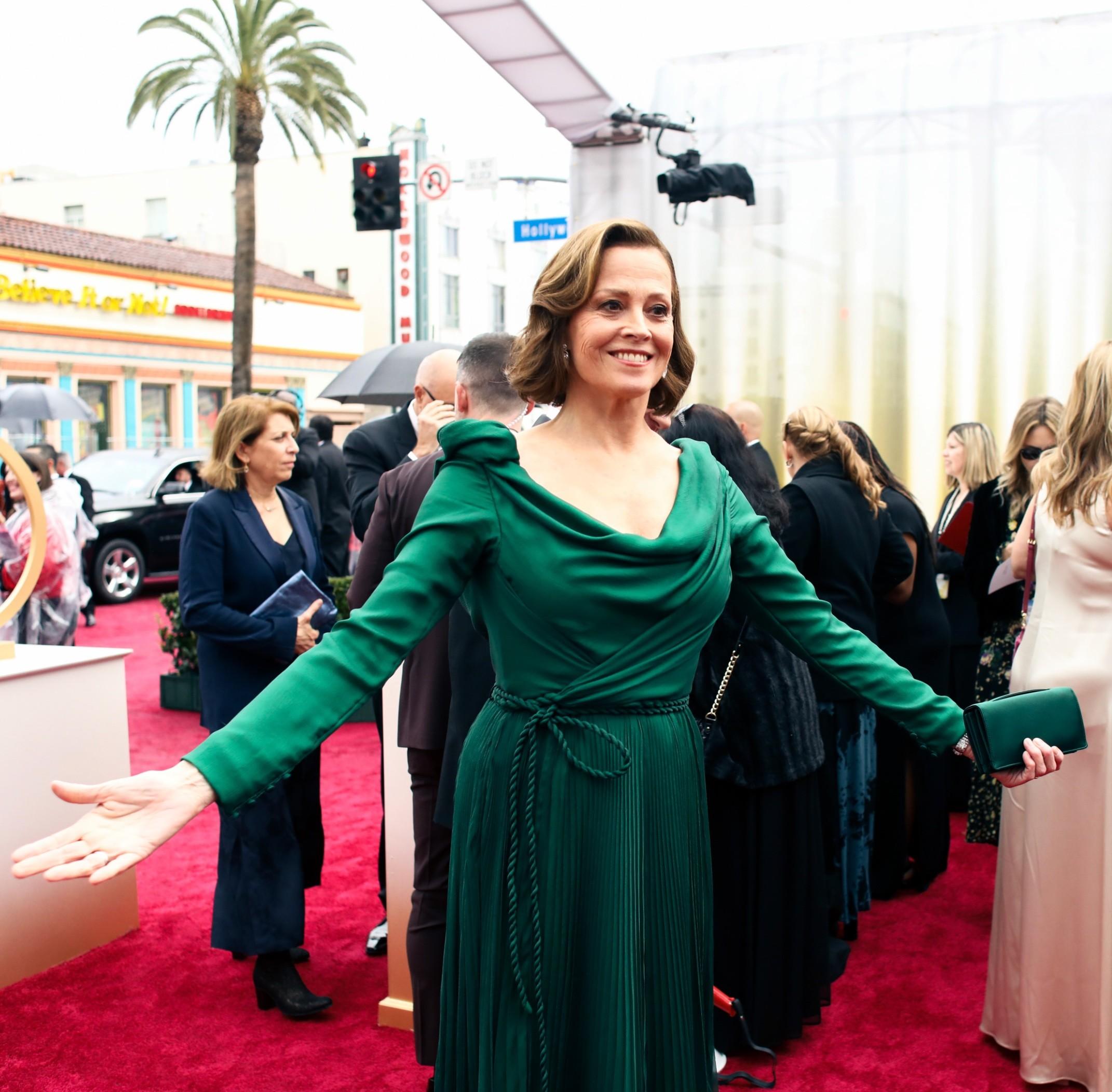 Sigourney Weaver sul red carpet