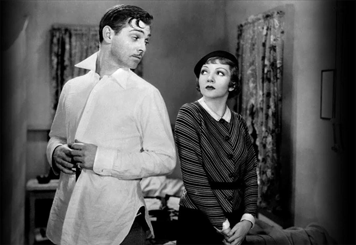 Clark Gable e Claudette Colbert