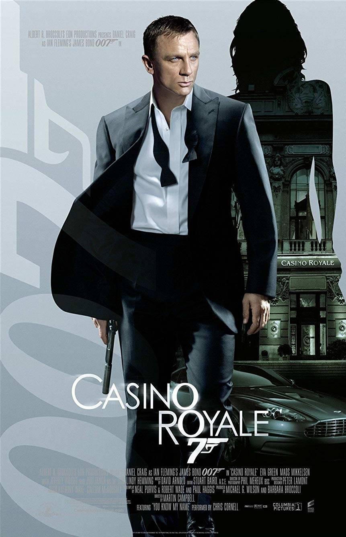 Il poster di Casino Royale presentò al mondo la tipica espressione corrucciata di Daniel Craig