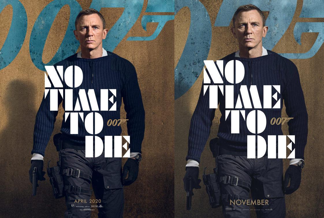 Il character poster di James Bond per No Time To Die, prima e dopo il cambio di data d'uscita: 007Magazine.co.uk fa notare che anche la pistola è cambiata. Non più una Walther PPK ma una SIG P226